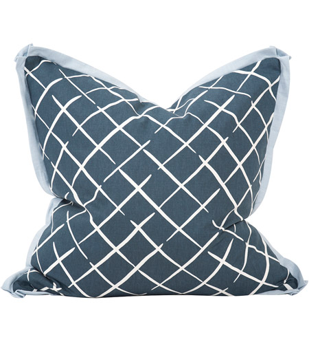 Howard Elliott Collection 3-664F Madcap Cottage 24 inch Cove End Indigo Pillow, with Down Insert photo