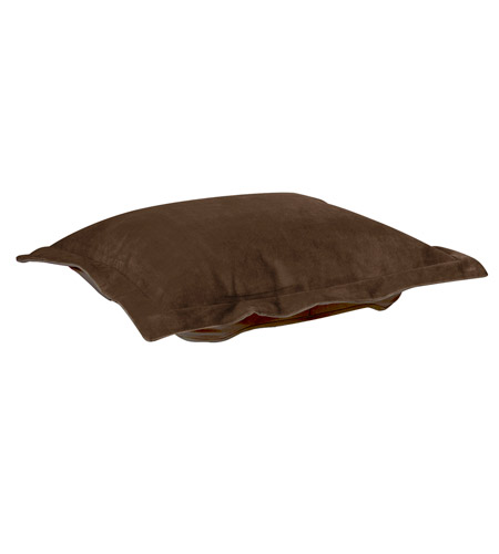 Howard Elliott Collection 310-220P Bella 8 inch Deep Chocolate Brown Ottoman Cover photo