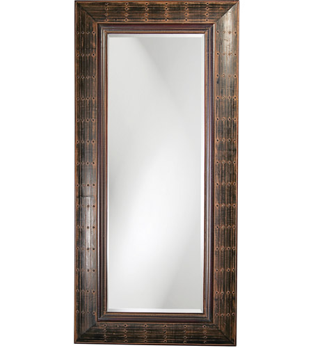 Howard Elliott Collection 33017 Pamela 40 X 3 inch French Brown Floor Mirror, Rectangle photo
