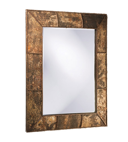 Howard Elliott Collection 37023 Aggawak 54 X 44 inch Birch Bark Wall Mirror, Rectangle photo
