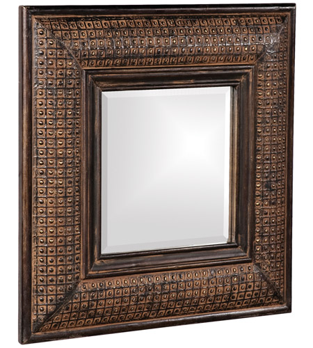 Howard Elliott Collection 37046 Grant 39 X 31 inch Antique Brown Wall Mirror, Square photo