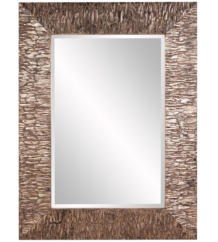 Howard Elliott Collection 37150 Linden 49 X 37 inch Champagne and Black Wall Mirror, Rectangle photo