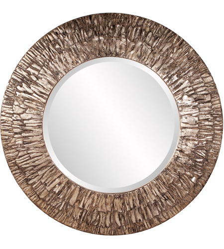 Howard Elliott Collection 37151 Linden 36 X 36 inch Champagne and Black Wall Mirror, Round photo