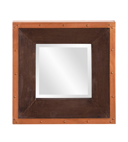 Howard Elliott Collection 37171 Blaze 72 X 36 inch Walnut Stained Wall Mirror, Square photo