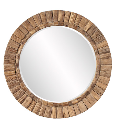 Howard Elliott Collection 39008 Gideon Natural Wood Wall Mirror, Round photo
