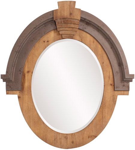 Howard Elliott Collection 39038 Hudson 39 X 35 inch Brown Wall Mirror, Oval photo