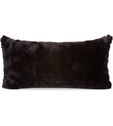 Howard Elliott Collection 4-1090 Kidney 22 inch Angora Ebony Pillow photo