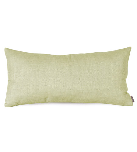 Howard Elliott Collection 4-204F Kidney 22 X 6 inch Green Pillow photo
