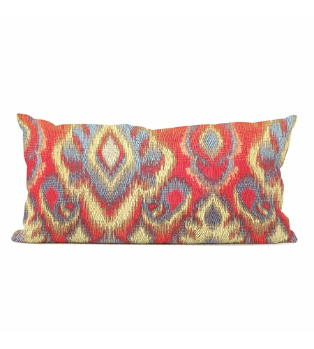 Howard Elliott Collection 4-233F Opal 22 X 6 inch Red and Gold Pillow photo