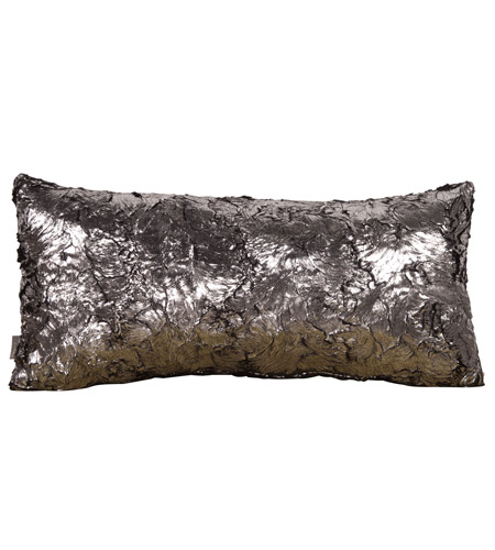 Howard Elliott Collection 4-248 Kidney 22 X 6 inch Metallic Pillow, Silver Fox photo
