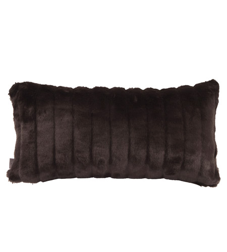 Howard Elliott Collection 4-286 Mink 22 X 6 inch Black Pillow, Rectangle photo