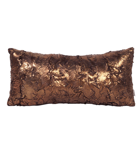 Howard Elliott Collection 4-295 Gold Cougar 22 X 6 inch Gold Metallic Pillow, Rectangle photo