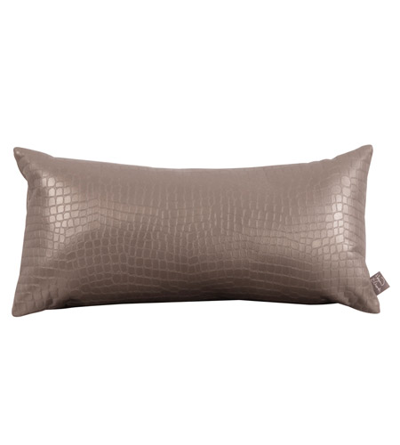 Howard Elliott Collection 4-470 Gator 22 X 6 inch Pewter Pillow photo