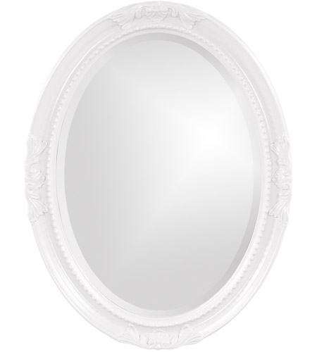 Howard Elliott Collection 40101 Queen Ann 33 X 25 inch White Wall Mirror, Oval photo