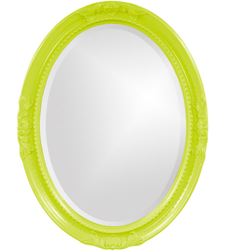 Howard Elliott Collection 40101MG Queen Ann 33 X 25 inch Green Wall Mirror, Oval photo