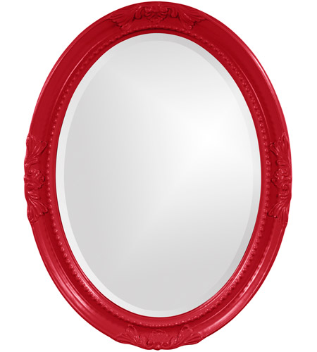 Howard Elliott Collection 40101R Queen Ann 33 X 25 inch Red Wall Mirror, Oval photo