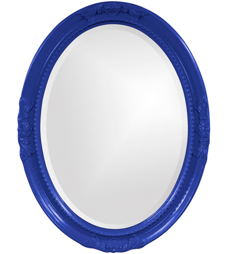 Howard Elliott Collection 40101RB Queen Ann 33 X 25 inch Royal Blue Wall Mirror, Oval photo