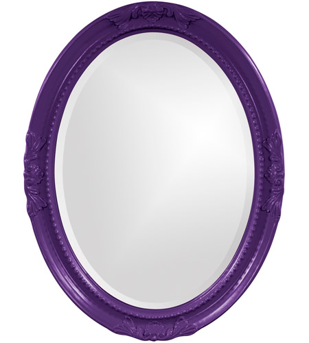 Howard Elliott Collection 40101RP Queen Ann 33 X 25 inch Royal Purple Wall Mirror, Oval photo