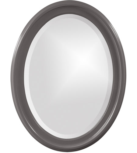 Howard Elliott Collection 40107CH George 33 X 25 inch Charcoal Wall Mirror, Oval photo
