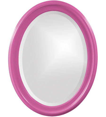 Howard Elliott Collection 40107HP George 33 X 25 inch Hot Pink Wall Mirror, Oval photo