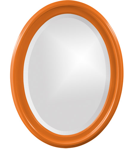 Howard Elliott Collection 40107O George 33 X 25 inch Orange Wall Mirror, Oval photo