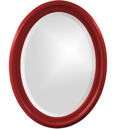 Howard Elliott Collection 40107R George 33 X 25 inch Red Wall Mirror, Oval photo
