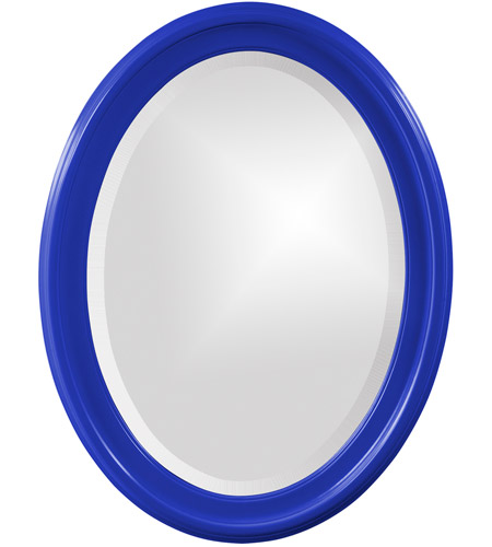 Howard Elliott Collection 40107RB George 33 X 25 inch Glossy Royal Blue Wall Mirror photo