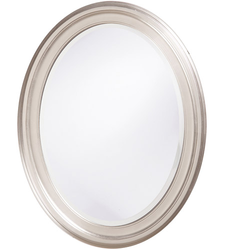 Howard Elliott Collection 40109 George 33 X 25 inch Nickel Wall Mirror, Oval photo
