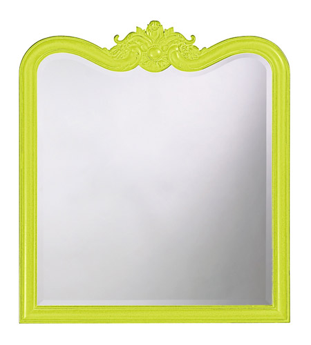 Howard Elliott Collection 4079MG Eliza 38 X 34 inch Black Wall Mirror, Rectangle photo