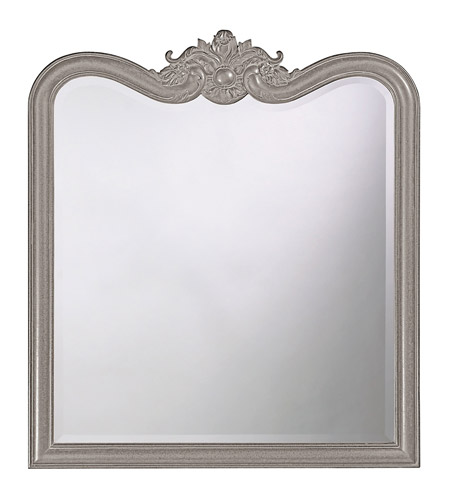 Howard Elliott Collection 4079N Eliza 38 X 34 inch Black Wall Mirror, Rectangle photo