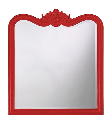 Howard Elliott Collection 4079R Eliza 38 X 34 inch Black Wall Mirror, Rectangle photo