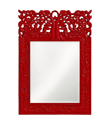 Howard Elliott Collection 4084R Oakvale 25 X 17 inch Red Wall Mirror, Rectangle photo
