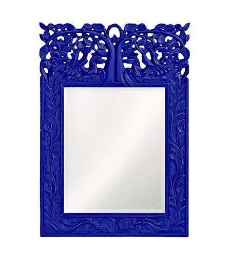 Howard Elliott Collection 4084RB Oakvale 25 X 17 inch Royal Blue Wall Mirror, Rectangle photo