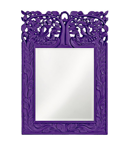 Howard Elliott Collection 4084RP Oakvale 25 X 17 inch Royal Purple Wall Mirror, Rectangle photo