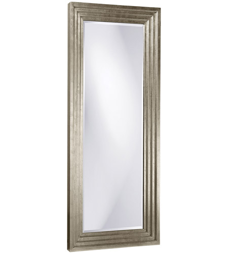 Howard Elliott Collection 43057 Delano 82 X 34 inch Bright Silver Leaf Floor Mirror, Rectangle photo