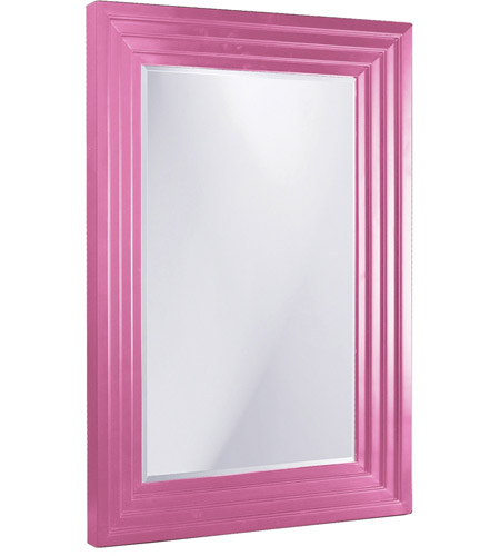 Howard Elliott Collection 43057SMHP Delano 82 X 34 inch Glossy Hot Pink Wall Mirror photo