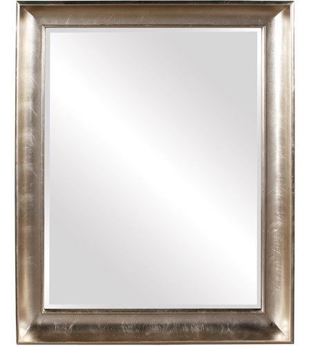 Howard Elliott Collection 43094 Montclair 56 X 45 inch Silver Leaf Wall Mirror, Rectangle photo