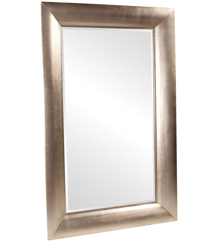 Howard Elliott Collection 43103 Baron 78 X 50 inch Bright Silver Leaf Floor Mirror, Rectangle photo
