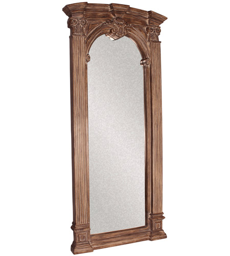Howard Elliott Collection 43118 Bonjour 86 X 39 inch Tuscan Brown Wall Mirror, Rectangle, Whitewash Accents photo
