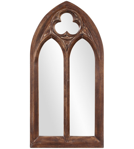 Howard Elliott Collection 43124 Basilica 69 X 36 inch Tuscan Brown Wall Mirror, Rectangle, Antique Washed Accents photo