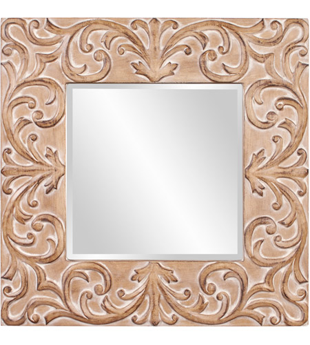 Howard Elliott Collection 43126 Larson 39 X 39 inch Antique Brown Wall Mirror, Square photo