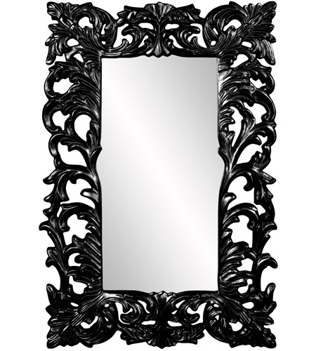 Howard Elliott Collection 43130BL Augustus 70 X 46 inch Black Wall Mirror, Rectangle photo