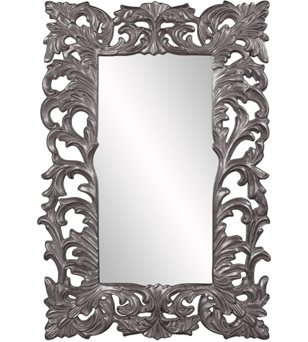 Howard Elliott Collection 43130CH Augustus 70 X 46 inch Charcoal Wall Mirror, Rectangle photo