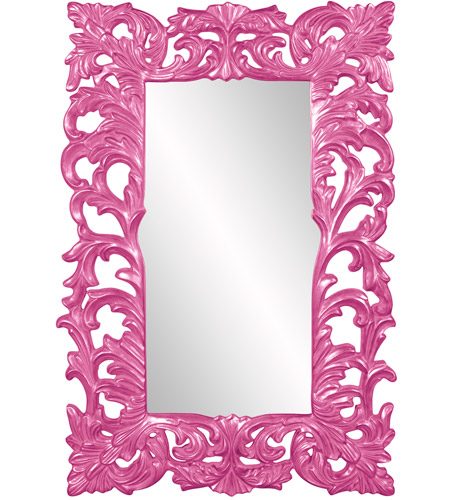 Howard Elliott Collection 43130HP Augustus 70 X 46 inch Hot Pink Wall Mirror, Rectangle photo