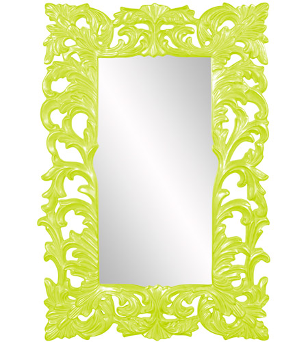 Howard Elliott Collection 43130MG Augustus 70 X 46 inch Moss Green Wall Mirror, Rectangle photo