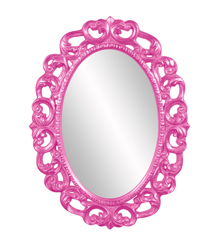 Howard Elliott Collection 43131HP Ansel 46 X 34 inch Hot Pink Wall Mirror, Oval photo