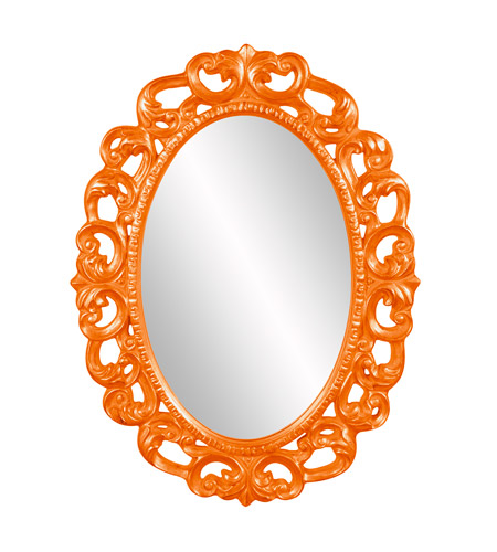 Howard Elliott Collection 43131O Ansel 46 X 34 inch Orange Wall Mirror, Oval photo