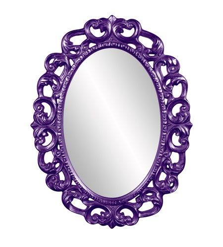 Howard Elliott Collection 43131RP Ansel 46 X 34 inch Royal Purple Wall Mirror, Oval photo