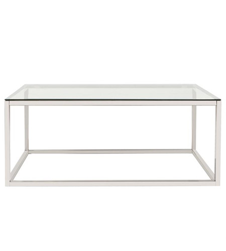 Howard Elliott Collection 48040 Accent Furniture 44 X 28 inch Silver and Clear Coffee Table photo