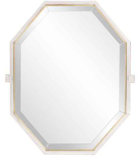 Howard Elliott Collection 48056 Axel 28 X 22 inch Silver Stainless Steel Trim Wall Mirror, Octagonal photo